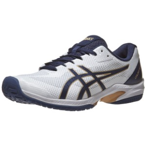 [아식스 남성용 코트 스피드 FF 테니스화] ASICS Men`s Court Speed FF Tennis Shoes - White and Peacoat