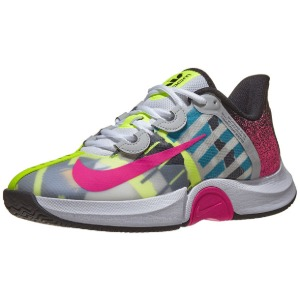 [나이키 여성용 코트 에어 줌 GP 터보 테니스화] NIKE Women`s Court Air Zoom GP Turbo Tennis Shoes - White and Laser Fuchsia